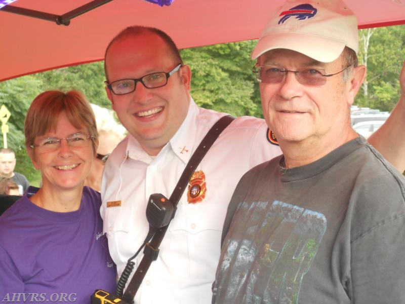 At Chiari Walk at Pratt Park mike with wife Jayne and Bart Lace