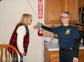 Fire extinguisher in date
