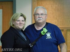 Angela Wilhelm with Top Ten Runer EMT Wayne George