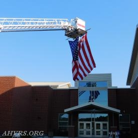 Entryway to Stafford Senior High School for Fire/EMS volunteer Recruit Graduation Ceremony July 10th, 2018