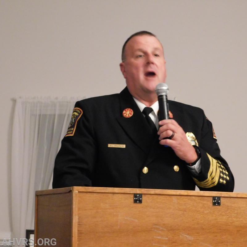 Guest Speaker Stafford County Fire Rescue Assistant Chief Allen Baldwin