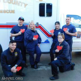 Fire and Rescue crews  celebrate Heart month