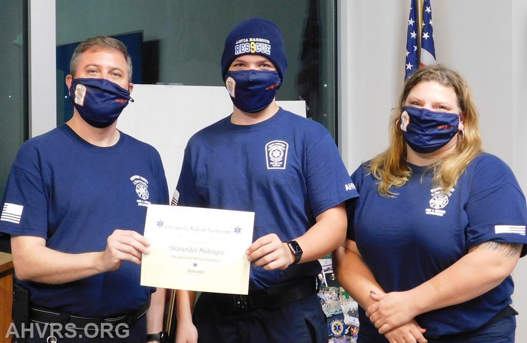 Alex McIntyre - EMT certificaiton